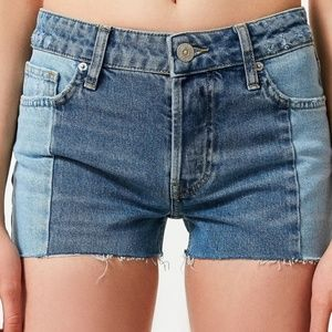 BDG Jessye Split Two Tone Denim Shorts 25